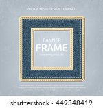 vector stitched layered padded... | Shutterstock .eps vector #449348419