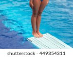 girl standing on a springboard  ... | Shutterstock . vector #449354311