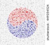asian yin yang composition.... | Shutterstock .eps vector #449354524