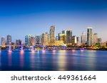 miami  florida  usa downtown... | Shutterstock . vector #449361664