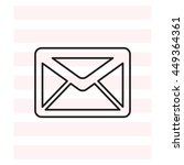 sms line vector icon | Shutterstock .eps vector #449364361