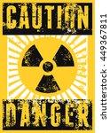 Radioactive Sign. Typographic...