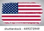 grunge usa flag.american flag... | Shutterstock .eps vector #449373949