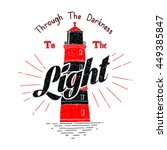 through the darkness to the... | Shutterstock .eps vector #449385847