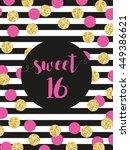 cute festive bright sweet... | Shutterstock .eps vector #449386621