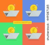 make money online with the... | Shutterstock .eps vector #449387185