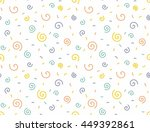 seamless cute curly pattern.... | Shutterstock .eps vector #449392861