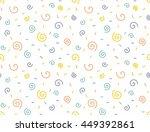 seamless cute curly pattern.... | Shutterstock .eps vector #449392861