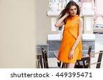beautiful sexy model woman wear ... | Shutterstock . vector #449395471