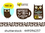 coffee cup with lettering ... | Shutterstock .eps vector #449396257