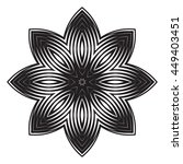 the black white round floral... | Shutterstock .eps vector #449403451