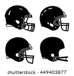 Football helmet sport icon symbols