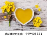 Rapeseed Oil In Heart Shaped...