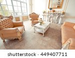 rich interior of studio with... | Shutterstock . vector #449407711