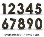 all number symbols of the... | Shutterstock . vector #449417185