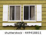 double sliding window with faux ... | Shutterstock . vector #449418811