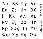 greek alphabet letters  font... | Shutterstock .eps vector #449422411