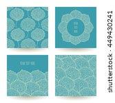 set of four vector backgrounds... | Shutterstock .eps vector #449430241
