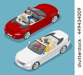 cabriolet car isometric... | Shutterstock . vector #449434009