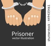hands in handcuffs isolated ... | Shutterstock .eps vector #449435461