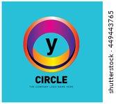 alphabet letter y colorful logo ... | Shutterstock .eps vector #449443765