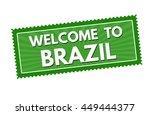 welcome to brazil travel... | Shutterstock .eps vector #449444377
