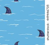 seamless vector pattern of... | Shutterstock .eps vector #449446735