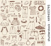 women clothes and accessories.... | Shutterstock .eps vector #449455795