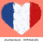 flag of france grunge heart | Shutterstock .eps vector #449466181