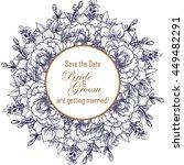 vintage delicate invitation... | Shutterstock . vector #449482291