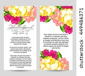 invitation with floral... | Shutterstock .eps vector #449486371