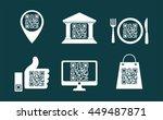 shopping qr code icons   Shutterstock .eps vector #449487871