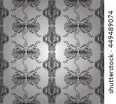 seamless vintage pattern on... | Shutterstock .eps vector #449489074