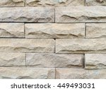 brown stone tile wall texture... | Shutterstock . vector #449493031