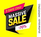 massive sale banner  poster.... | Shutterstock .eps vector #449493961
