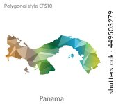panama map in geometric... | Shutterstock .eps vector #449503279