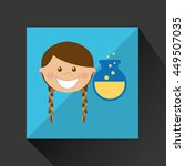 education school student child... | Shutterstock .eps vector #449507035