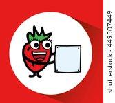 fruit nature healthy cartoon... | Shutterstock .eps vector #449507449