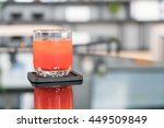 glass of punch juice on table | Shutterstock . vector #449509849