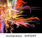 rainbow creepy icicle bright neon abstract page design illustration background - stock photo