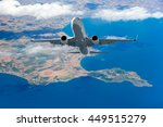passenger airplane in the... | Shutterstock . vector #449515279