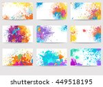 business cards templates made... | Shutterstock .eps vector #449518195