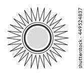 flat design cartoon sun icon...