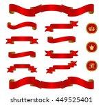 red ribbon set | Shutterstock .eps vector #449525401