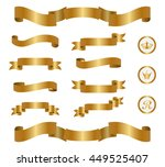 gold ribbon set | Shutterstock .eps vector #449525407