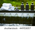 detail of outdoor spa centre at ...   Shutterstock . vector #44953057