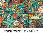 seamless pattern. vintage... | Shutterstock . vector #449531374
