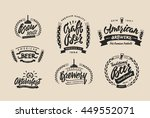 set of vintage labels  logo... | Shutterstock .eps vector #449552071