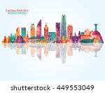 south america skyline. vector... | Shutterstock .eps vector #449553049