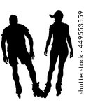 silhouette athletes of skates... | Shutterstock .eps vector #449553559
